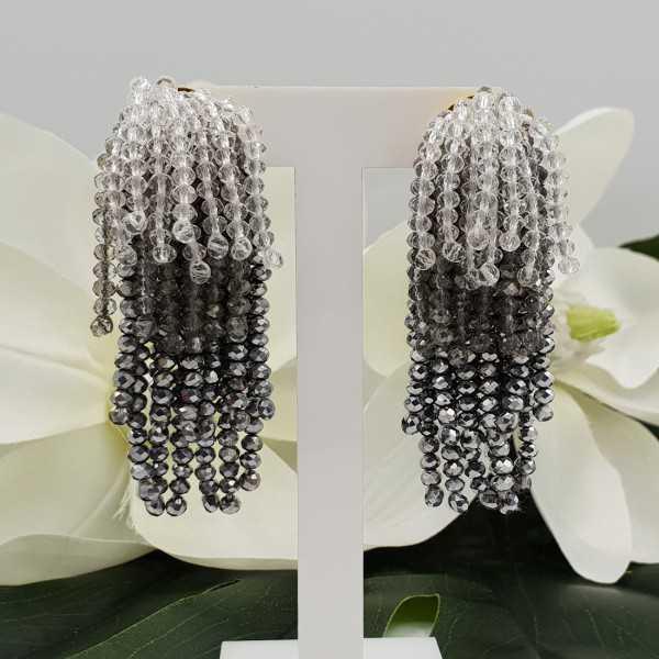 Vergoldete Wasserfall Quaste Ohrringe Silber