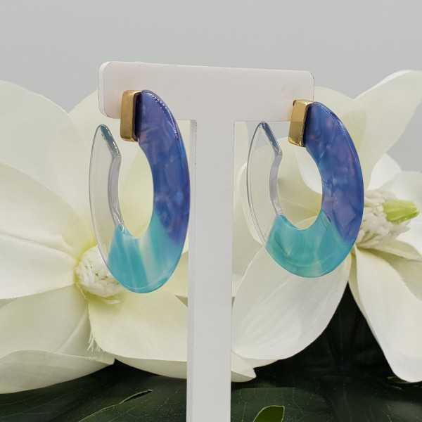 Resin creoles mint light blue