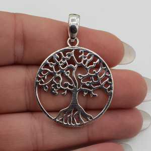 Zilveren hanger met levensboom