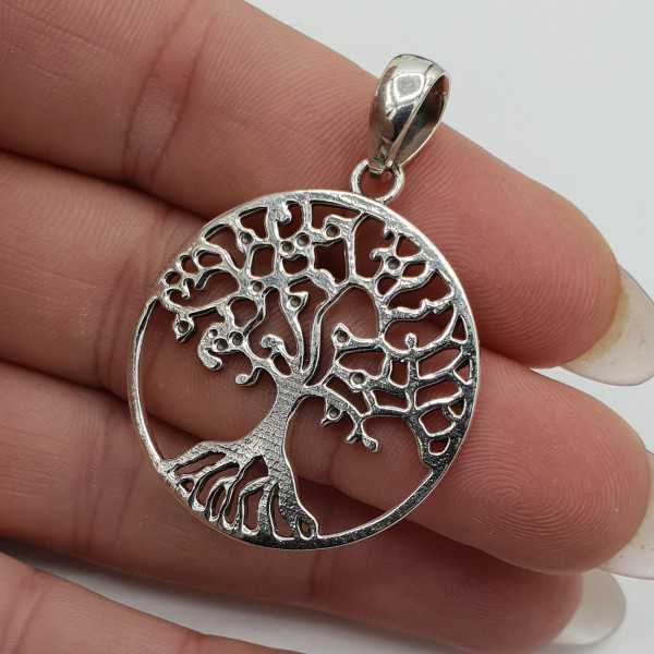 Silver pendant with tree of life