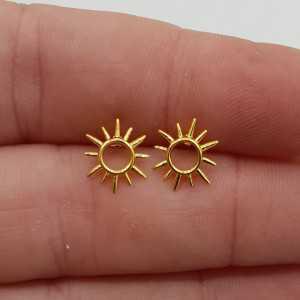 Vergoldete Sonne ooknoppen