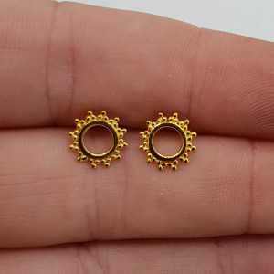 Gold plated offener ring oorknopjes