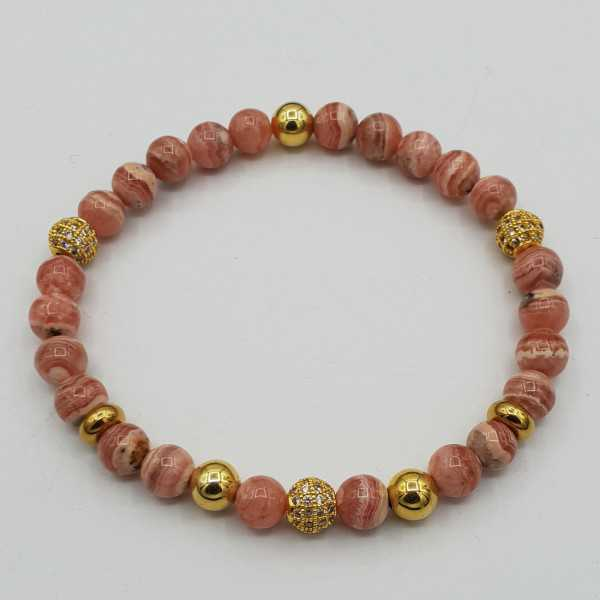 Bracelet of Rhodochrosite