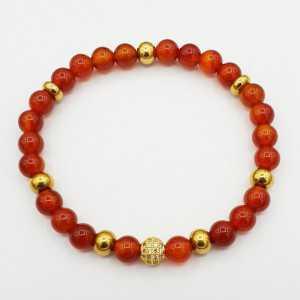 Bracelet made of Carnelian
