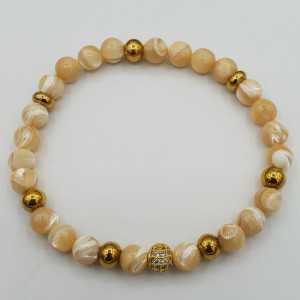 Bracelet of mother-of-Pearl
