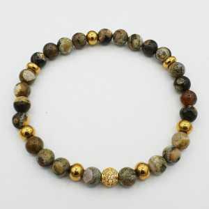 Armband van regenwoud Jaspis