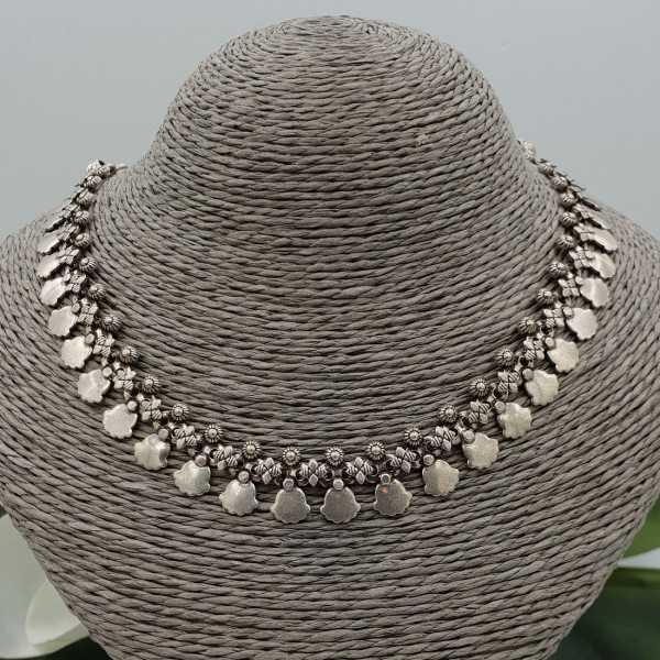 Silber boho-Stil choker Halskette