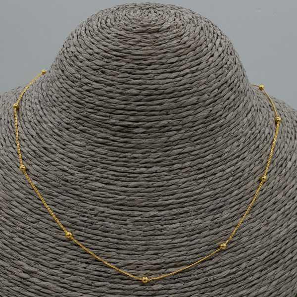 Gold plated choker-Halskette mit Kugeln