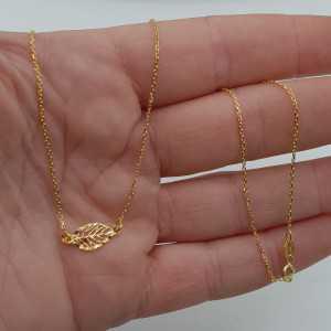 Gold überzog Halskette mit kleinem Blatt