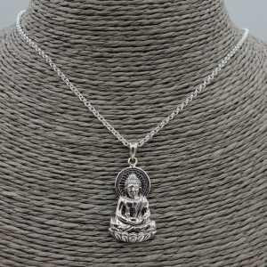 Zilveren ketting met Boeddha hanger