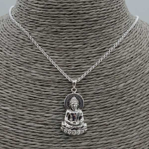 Silver necklace with Buddha pendant