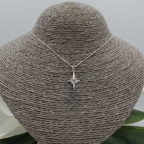 Silver necklace with Noordster pendant