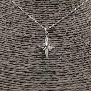 Zilveren ketting met Noordster hanger