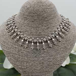 925 sterling Silber boho-Stil choker Halskette