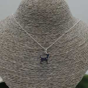 Zilveren ketting met Chihuahua hanger