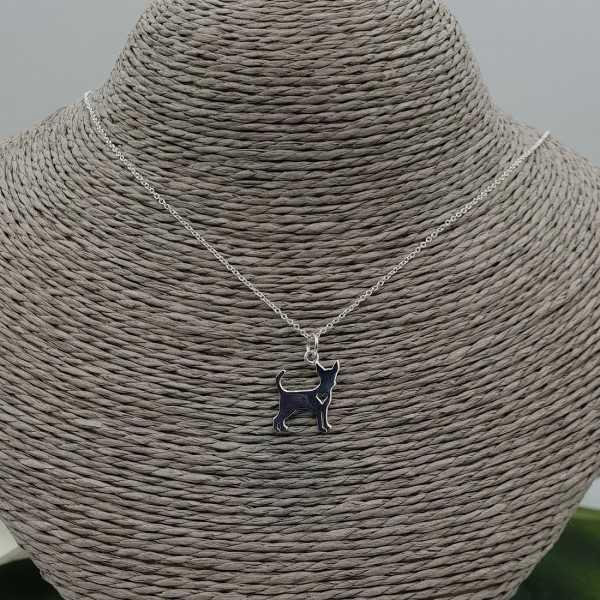 Silber Halskette mit Chihuahua Anhänger