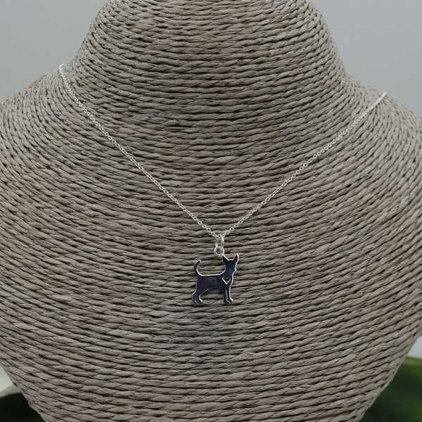 Silver necklace with Chihuahua pendant