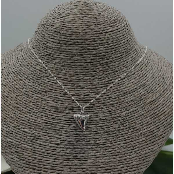 Silver necklace with haaientand pendant