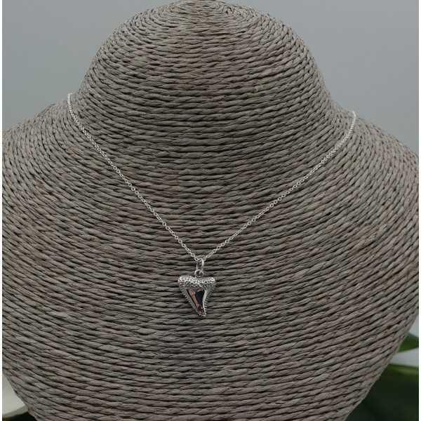 Zilveren ketting met haaientand hanger