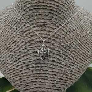 Zilveren ketting met Ganesh olifant hanger