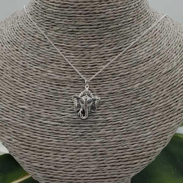 Silber Halskette mit Ganesh Elefant Anhänger