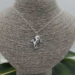 925 Sterling silver necklace with unicorn pendant