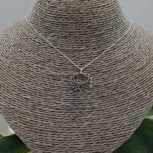 925 Sterling Silber Halskette mit lotus Anhänger