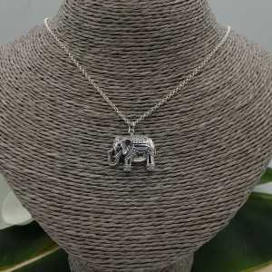 925 Sterling zilveren ketting met olifant hanger