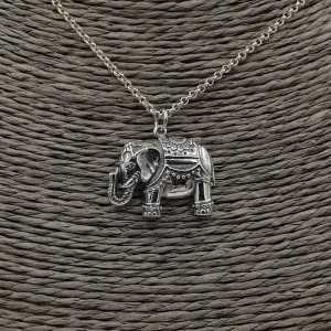 925 Sterling silver necklace with elephant pendant