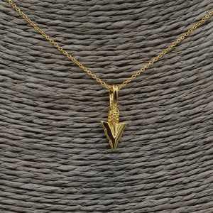 Vergoldete Halskette mit Pfeil-Anhänger