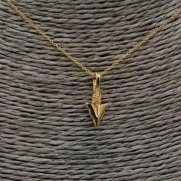 Goud vergulde ketting met pijl hanger