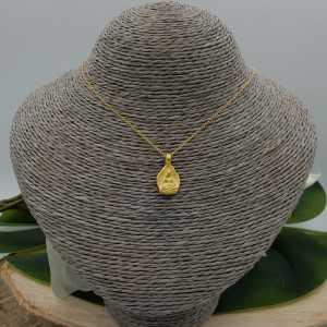 Goud vergulde ketting met Boeddha hanger