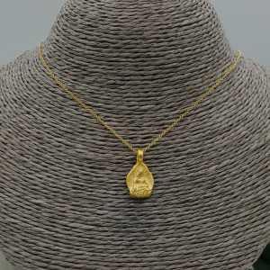 Vergoldete Kette mit Buddha-Anhänger
