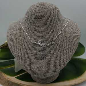 Silver necklace with mermaid pendant