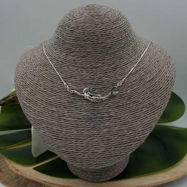 Silber Halskette mit Meerjungfrau-Anhänger