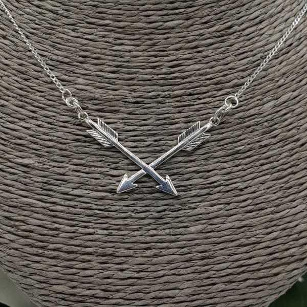 Silber Halskette mit zwei Pfeilen
