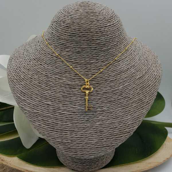 Vergoldete Halskette mit Schlüssel-Anhänger