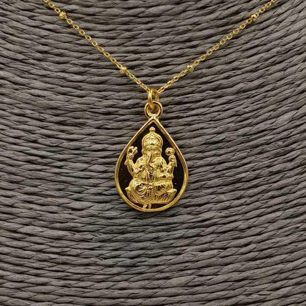 Vergoldete Halskette mit Ganesha ofilant Anhänger