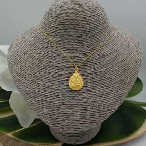 Vergoldete Halskette mit Ganesha Elefant Anhänger mat