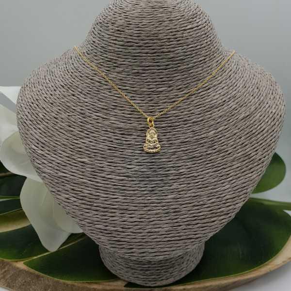 Gold überzog Halskette mit kleinem Buddha Anhänger