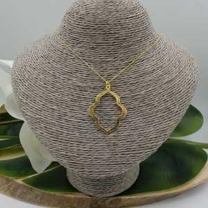 Goud vergulde ketting met Marakesh hanger
