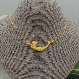 Goud vergulde ketting met zeemeermin hanger