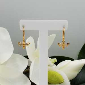 Gold plated earrings with pendant