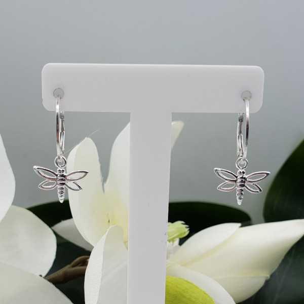 Silber-Ohrringe mit Anhänger