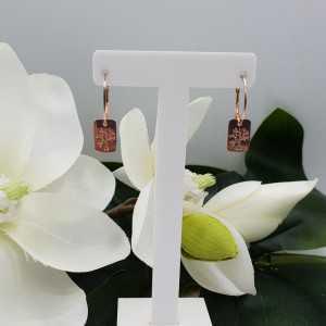 copy of Rosé vergulde oorbellen met elf hanger