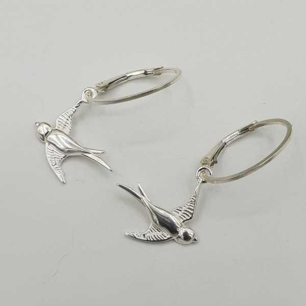 Silber Ohrringe mit Schwalbe Anhänger