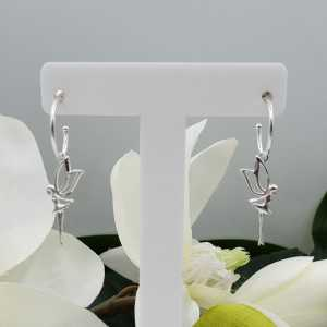 Silver earrings with eleven pendant