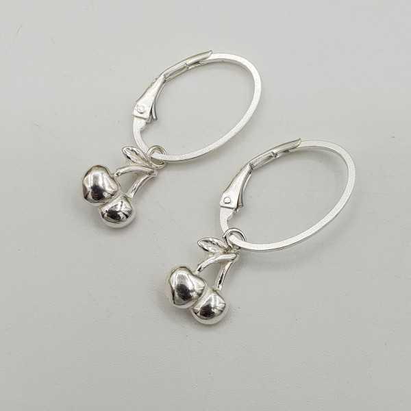 Silber Ohrringe mit Kirschen Anhänger