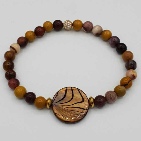 Bracelet with shell and Mookaiet