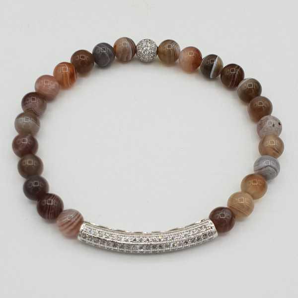 Armband Aus Botswana-Achat